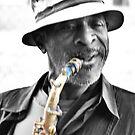Street Musician 1 by Brad Sumner