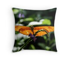 sunning his wings Throw Pillow