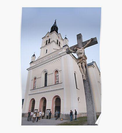 Church in Bohinjska Bistrica, Slovenia Poster