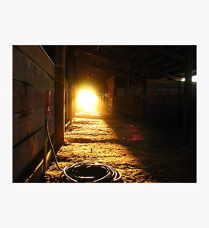 Sunlight at the end.... Photographic Print