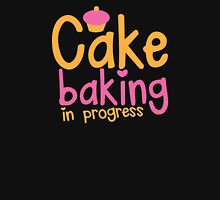 Cake baking in progress Womens Fitted T-Shirt