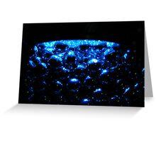 Blue Spheres Greeting Card