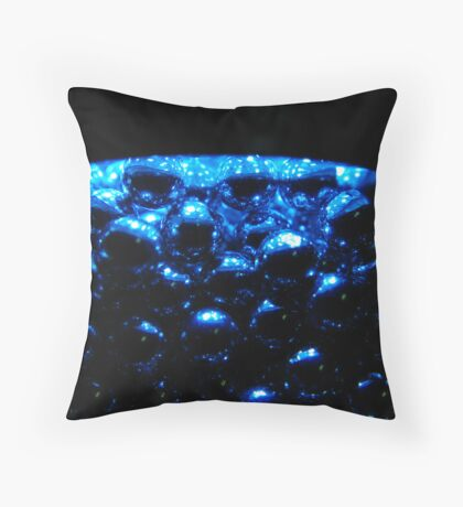 Blue Spheres Throw Pillow