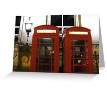 ENGLISH TELEPHONE BOXES Greeting Card