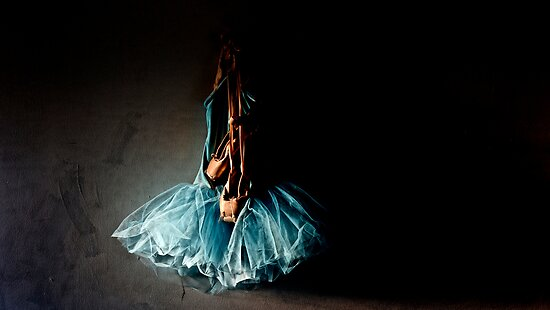 Dramatic Ballet Tutu on Old Wall by Stephen Orsillo