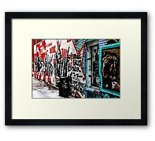 Graffiti Alley Toronto Framed Print