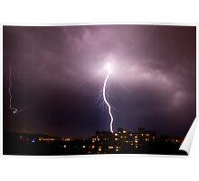 Lightning in Ljubljana, Slovenia Poster