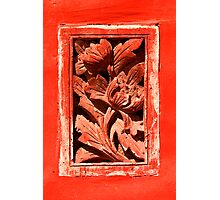 Floral Detail - The Forbidden City, China Photographic Print