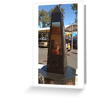 War MEMORIAL Queensland Australia Greeting Card