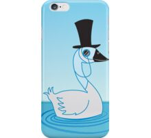 A very Uppity Upper Class Swan with monocle iPhone Case/Skin
