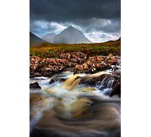 Marsco and River Sligachan, Isle of Skye, Scotland. Photographic Print