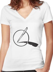 My Pen Is my Quill Women's Fitted V-Neck T-Shirt