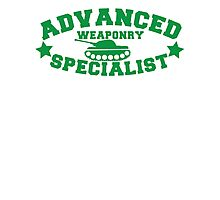Advanced Weaponry Specialist with green army tank Photographic Print