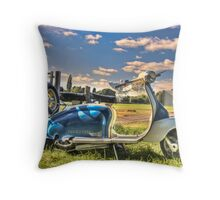 Lambretta Throw Pillow