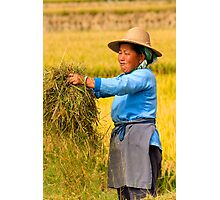 Getting at the Grain - Dali, China Photographic Print