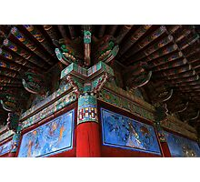 Buddhist Artistry - Seongnam Temple, South Korea Photographic Print
