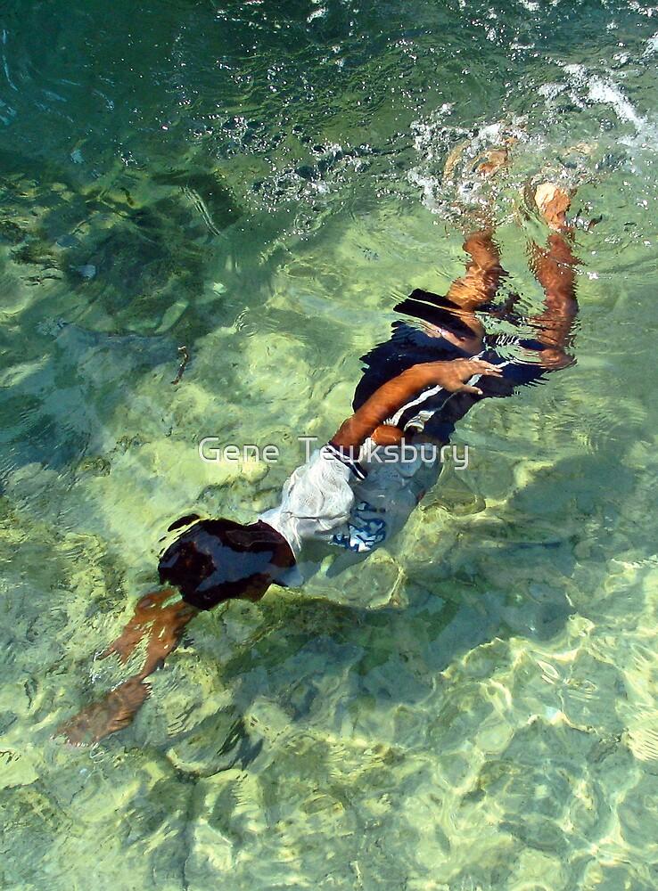 Swimming Boy by Gene  Tewksbury