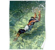 Swimming Boy Poster