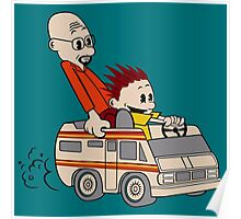 Breaking Bad Calvin And Hobbes Poster