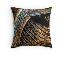 Ribs of the Boat. Throw Pillow