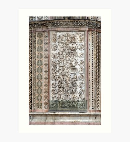 Orvieto - Dome - Sermons  of Stone Art Print