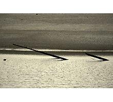 Driftwood Sandspit at Klamath River Mouth, California Photographic Print