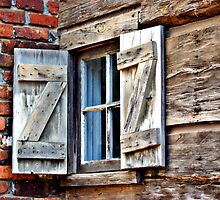 Wooden Shutters by Linda Yates