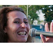Sheryl - vocals Photographic Print