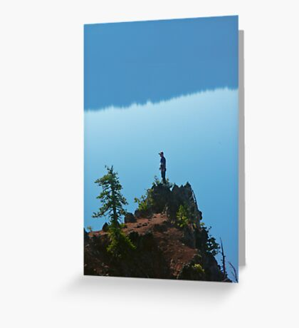 Man on Cliff Greeting Card