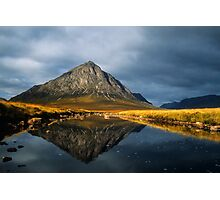 Buachaille Etive Mor, Glen Coe, Highlands of Scotland. Photographic Print