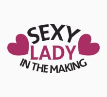 Sexy lady in the making with love hearts Kids Tee