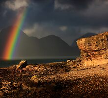 Rainbow, Elgol, Isle of Skye, Scotland. by photosecosse /barbara jones