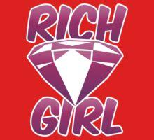Rich girl with pink diamond jewel  One Piece - Long Sleeve
