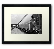 curves on track Framed Print