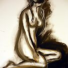 Nude - Sepia and Charcoal by ChristineBetts