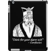 Confucius Say iPad Case/Skin