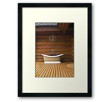 The Outdoor Bath Tub Framed Print