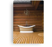 The Outdoor Bath Tub Canvas Print