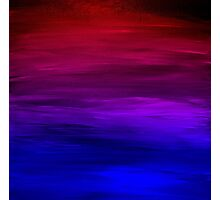 ETERNAL SUNSET Bold Colorful Ombre Abstract Acrylic Painting Fuchsia Magenta Pink Red Royal Blue Photographic Print