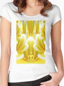 Buddha Angel Women's Fitted Scoop T-Shirt