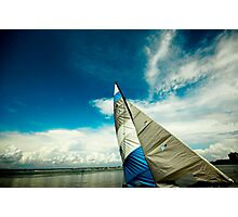 Blue Sail...Blue Sky Photographic Print