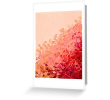 CREATION IN COLOR, CORAL PINK Pretty Girly Ombre Ocean Waves Sea Colorful Splash Abstract Acrylic Painting Greeting Card