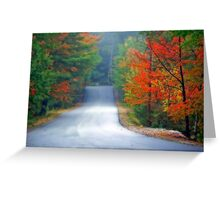 Scenic Road By Zephyr Lake Greeting Card