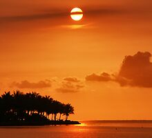 Sunset Key West by Gene  Tewksbury