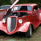 Beautiful Red Car-Unknown Maker Est&#x27; 1930&#x27;s era by Ann Warrenton
