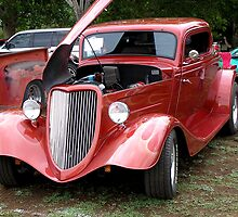 Beautiful Red Car-Unknown Maker Est' 1930's era by Ann  Warrenton