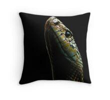 snake portrait Throw Pillow