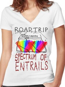 Spectrum of Entrails Women's Fitted V-Neck T-Shirt