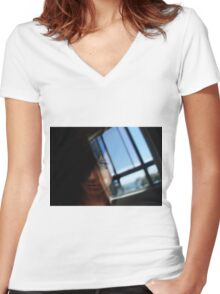 Window Women's Fitted V-Neck T-Shirt