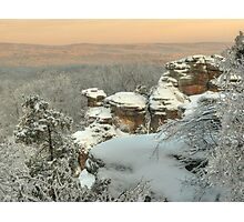 Garden of the Gods Ice Photographic Print